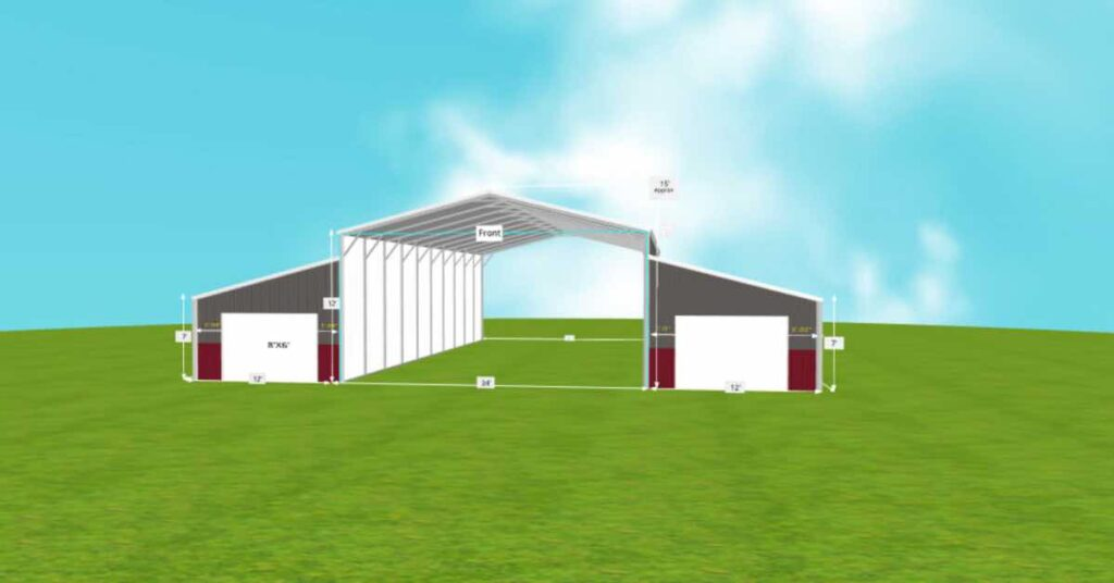 Barn Utility Storage Agricultural Equipment front