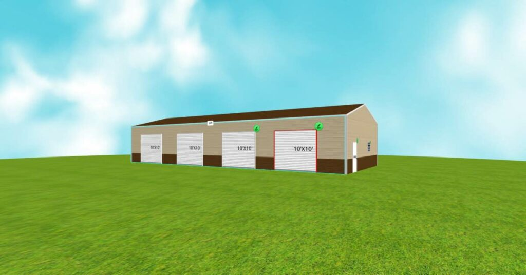 Vertical Roof Commercial Farm Metal Building front