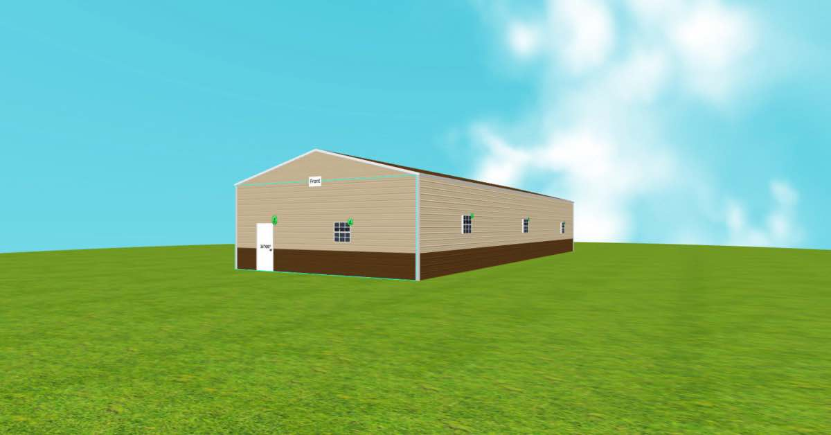 Vertical Roof Commercial Farm Metal Building side 2 (1)