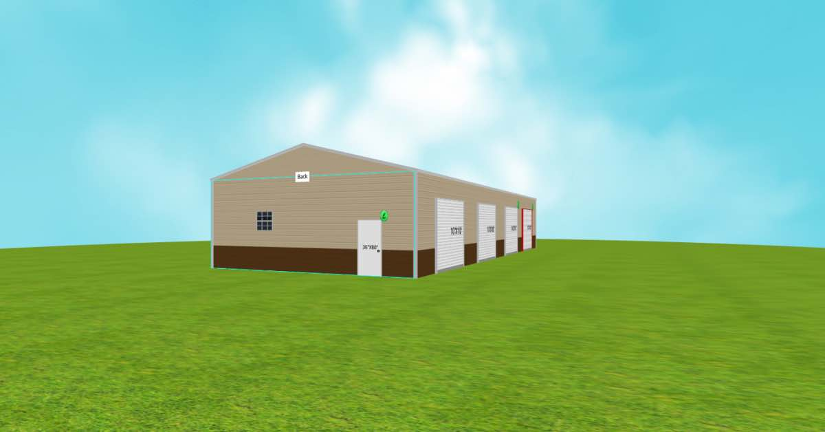 Vertical Roof Commercial Farm Metal Building side 2