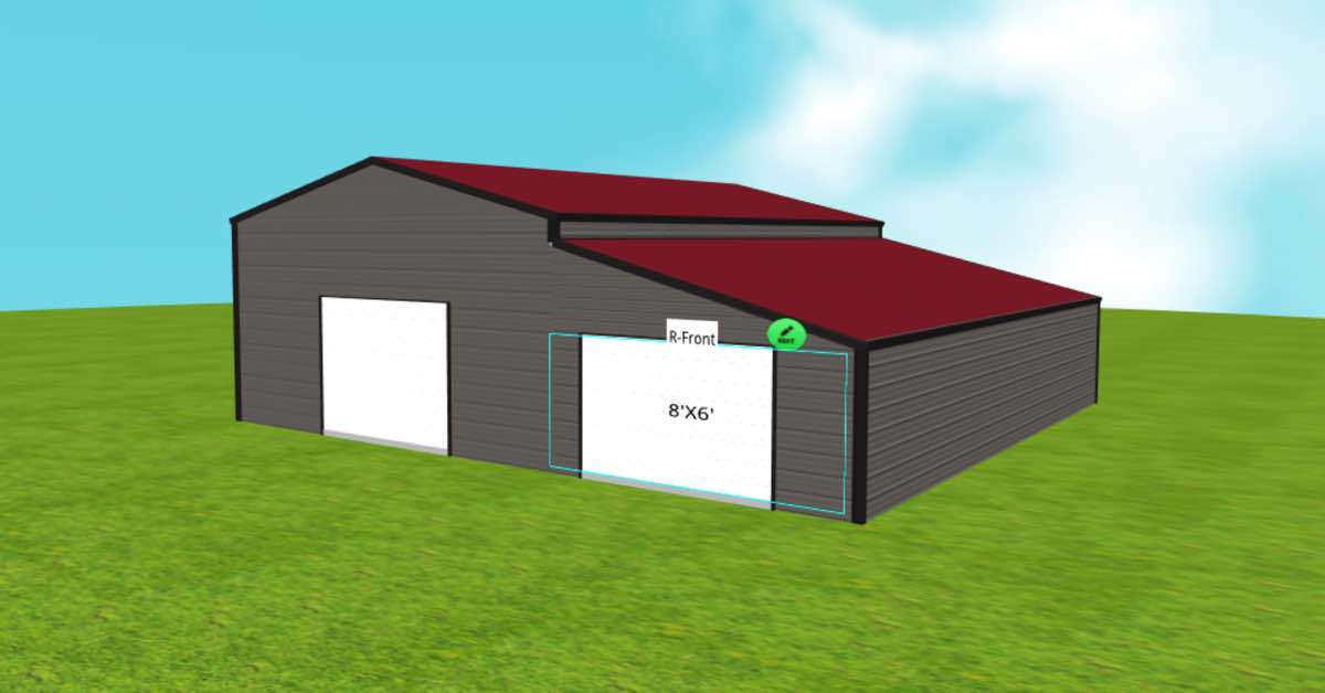 garage with enclosed lean to