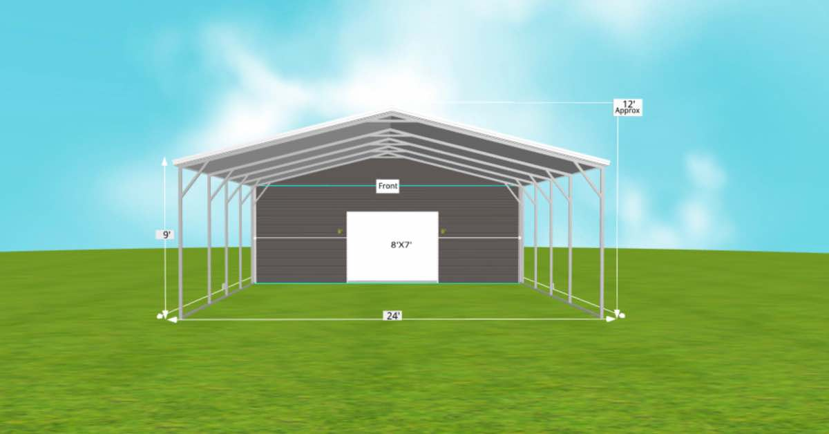 metal carports with storage