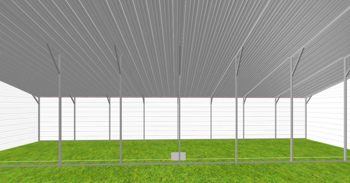 straight roof metal barn 1