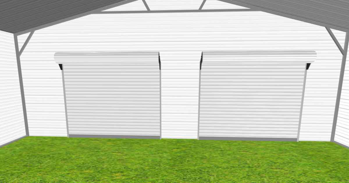 triple wide garage with lean to inside