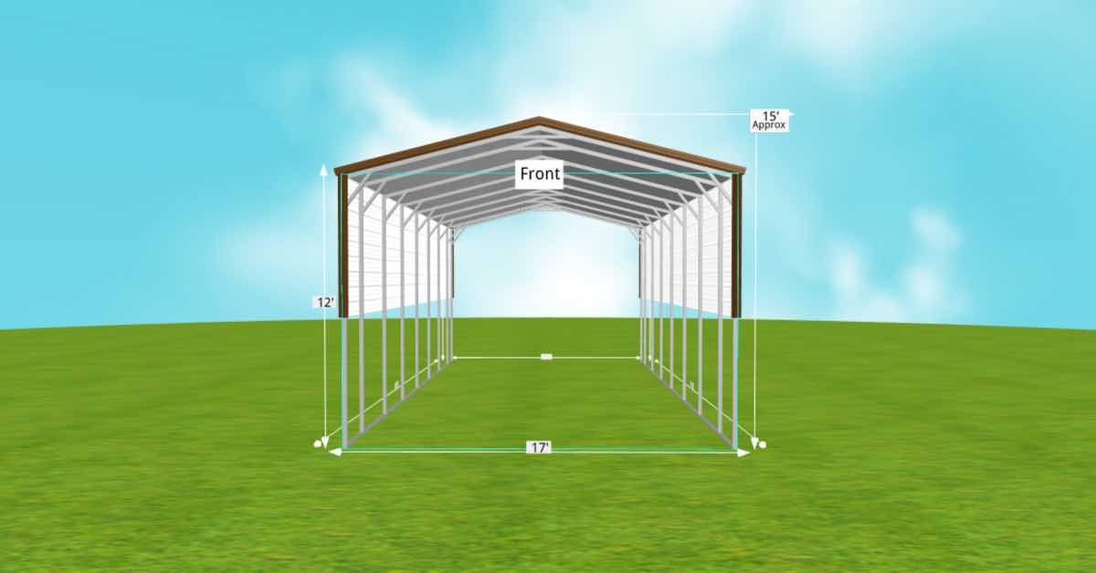 Metal RV Carports for Campers and Motorhomes front