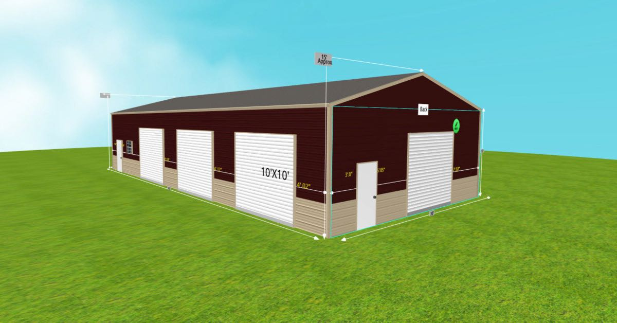 Metal_Steel Warehouse Office Space 30'W x 60'L x 12'H