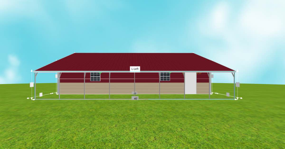 Multi-Purpose Garage Extended Carport With Roll-up Door side