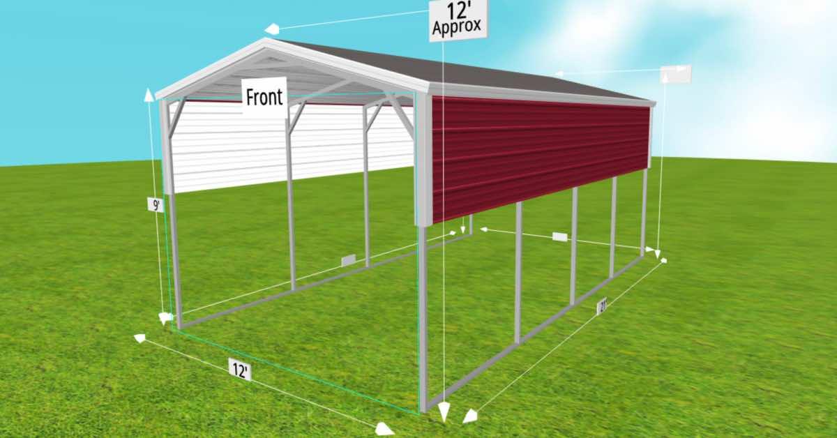 car cover carport outdoor metal building side