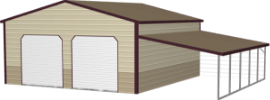 garage with lean-to icon
