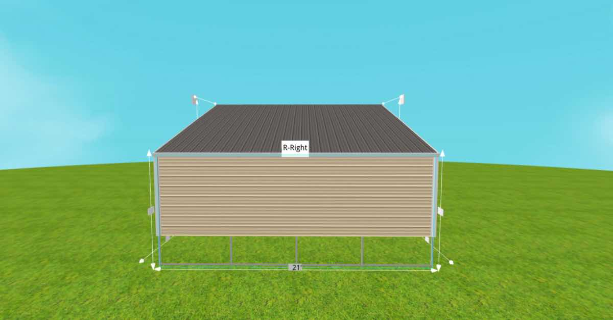 metal rv carport with lean to side (1)
