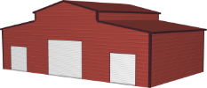 raised center barn icon