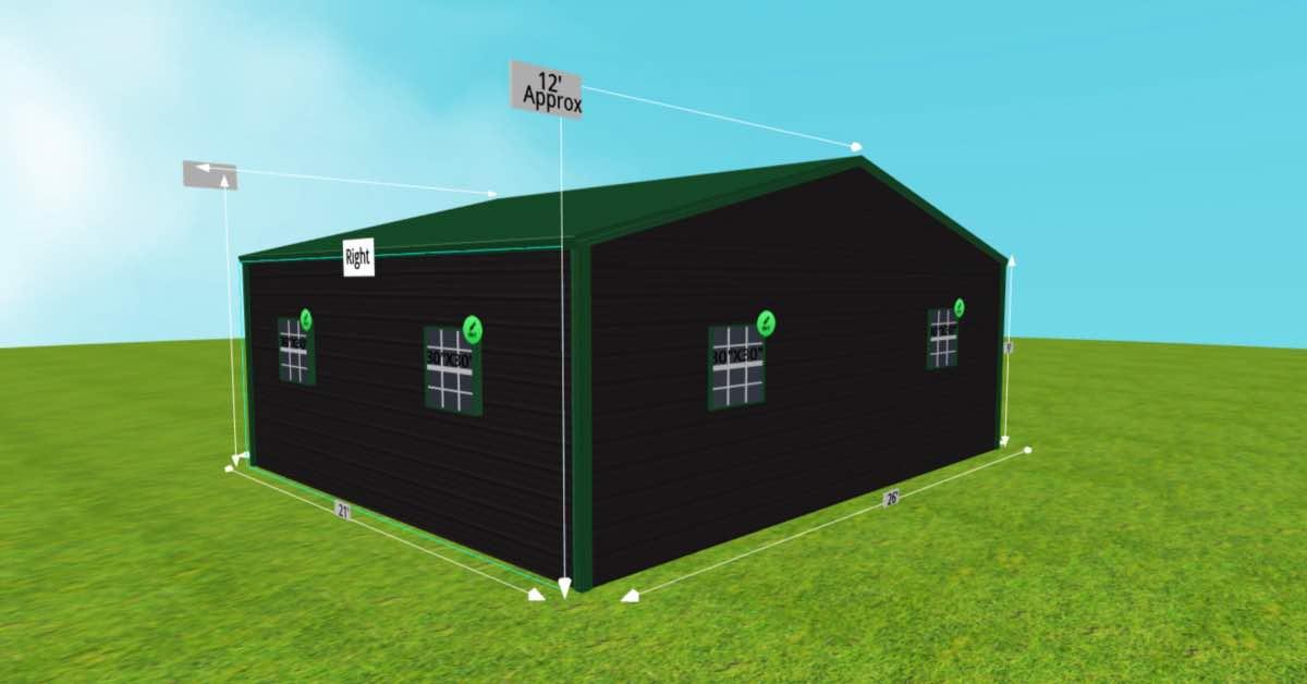 steel shelter for sale side