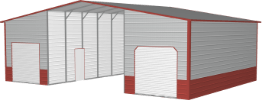 straight roof barn icon