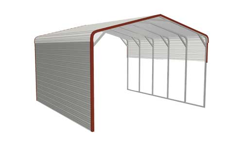 One-side-enclosed-partially-classical-carport